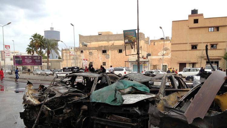 مقتل 7 عسكريين بتفجير انتحاري في بنغازي الليبية