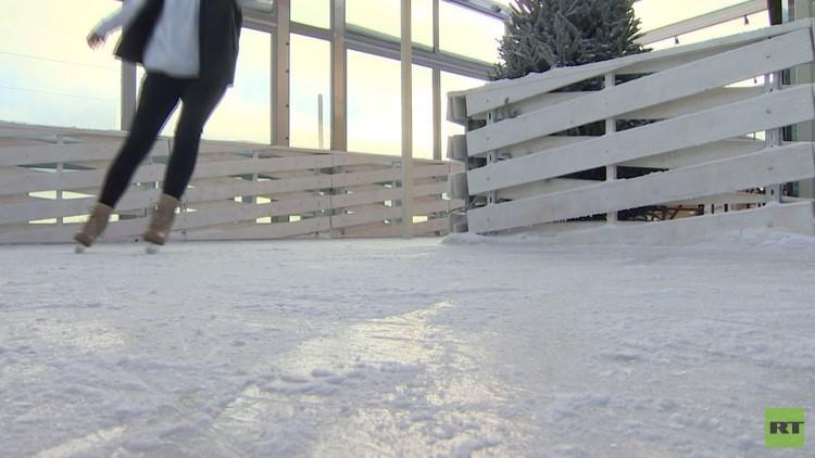 افتتاح أعلى ساحة تزلج على الجليد بالعالم