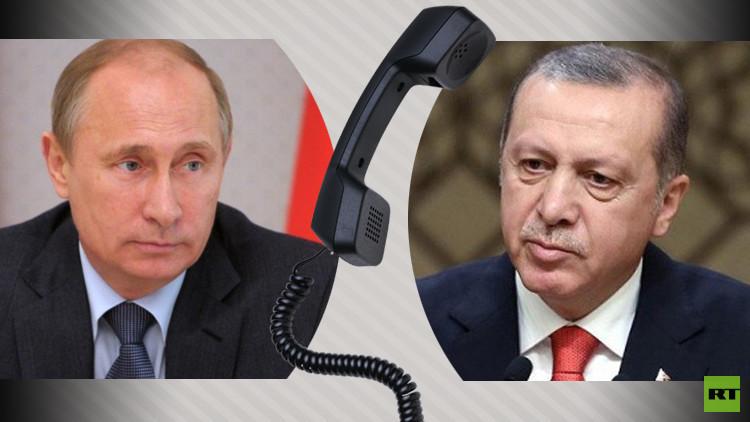 بوتين وأردوغان ونزارباييف يبحثون في اتصال هاتفي الأزمة السورية