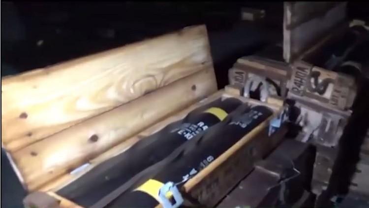 العثور على المئات من صناديق الأسلحة الأمريكية في حلب