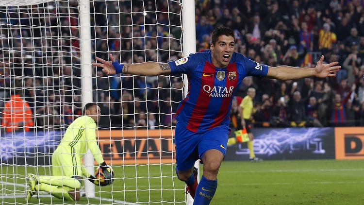 سواريز أفضل هدافي العالم في 2016