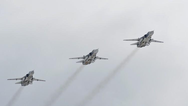 الطيران الروسي يساند