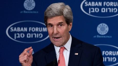 وزير الخارجية الأمريكي جون كيري يتحدث في