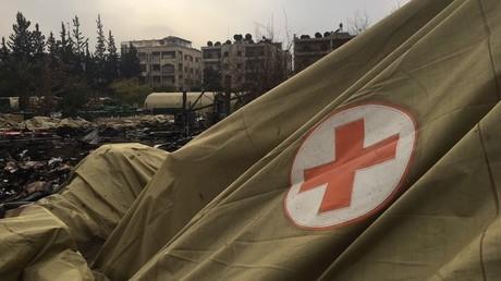 مكان استهداف المستشفى الروسي العسكري المتنقل في حلب