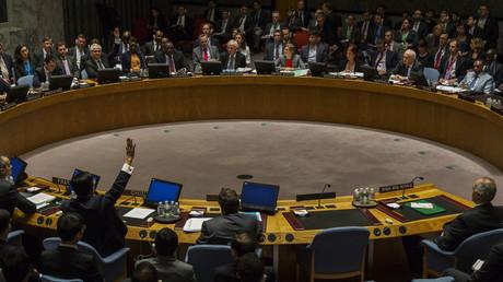 الفيتو الروسي والصيني ضد مشروع قرار حول سوريا في مايو/أيار عام 2014