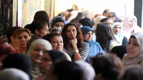 مصريات في العاصمة القاهرة 22 نوفمبر 2015