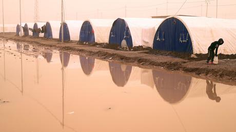 مخيم للاجئين في محافظة نينوى