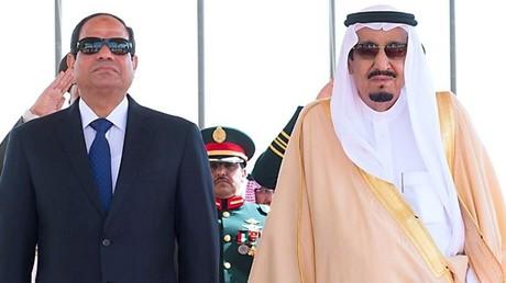 ملك السعودية سلمان بن عبد العزيز والرئيس المصري عبد الفتاح السيسي