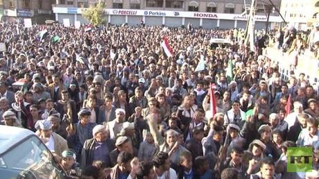 تظاهرة في صنعاء دعما لحكومة الإنقاذ