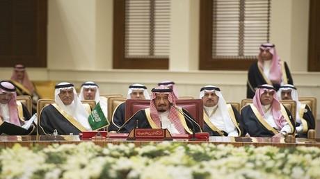 ملك السعودية سلمان بن عبد العزيز آل سعود في قمة مجلس التعاون الخليجي في 6 ديسمبر 2016، في العاصمة البحرينية المنامة