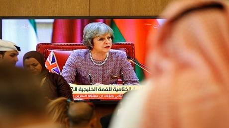 رئيسة الحكومة البريطانية، تيريزا ماي