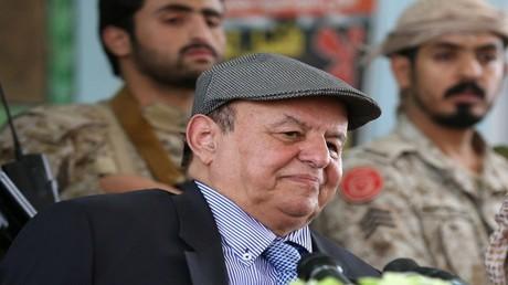 أرشيف - الرئيس اليمني عبد ربه منصور هادي - مأرب - 10 يوليو 2016