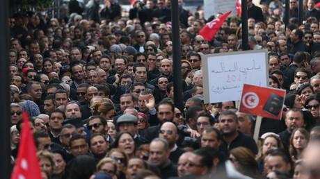 احتجاجات في تونس ضد