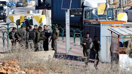 موقع الحادث في الضفة الغربية