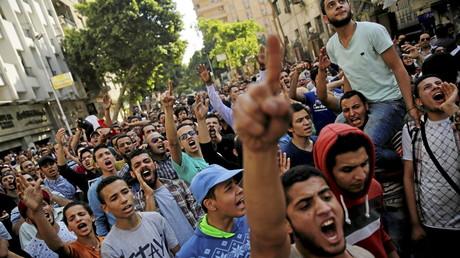 مشهد من مظاهرات في مصر (صورة أرشيفية)