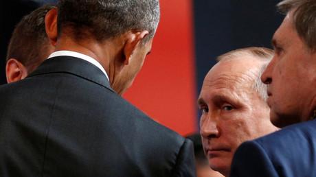 لقاء بين الرئيسين الروسي فلاديمير بوتين والأمريكي باراك أوباما
