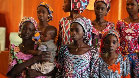 فتيات تشيبوك اللائي أطلقتهن جماعة بوكو حرام المتشددة