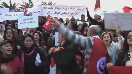 تظاهرات في تونس ضد عودة المتطرفين
