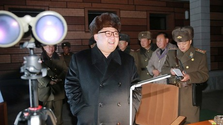الرئيس الكوري الشمالي كيم جونغ أون