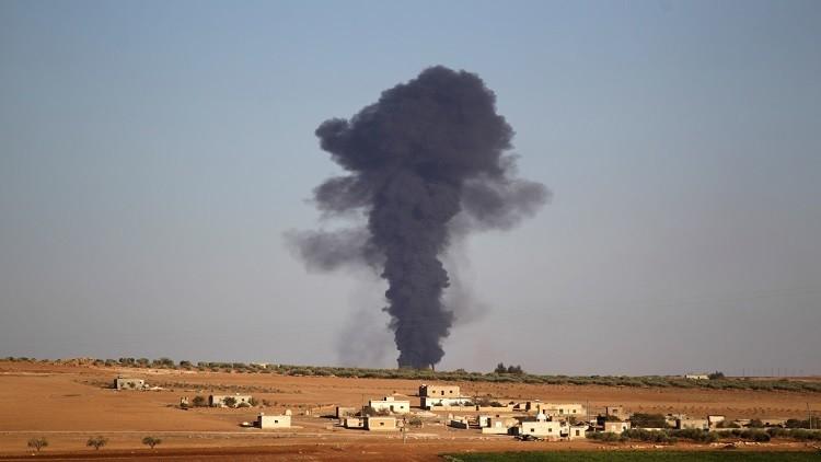 فيديو يظهر غارات على مواقع داعش في مدينة الباب وتادف