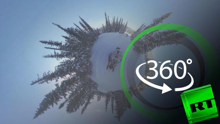 بتقنية 360 درجة.. رحلة أخَاذة على مركبات ثلجية في خاكاسيا الروسية