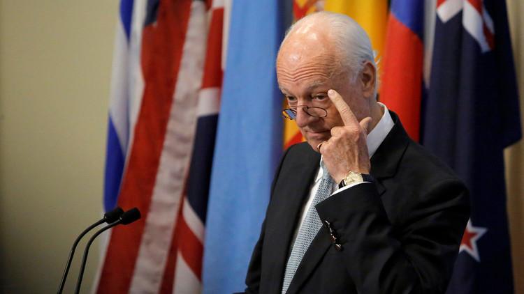 دي ميستورا لن يشارك في مفاوضات أستانا حول الأزمة السورية