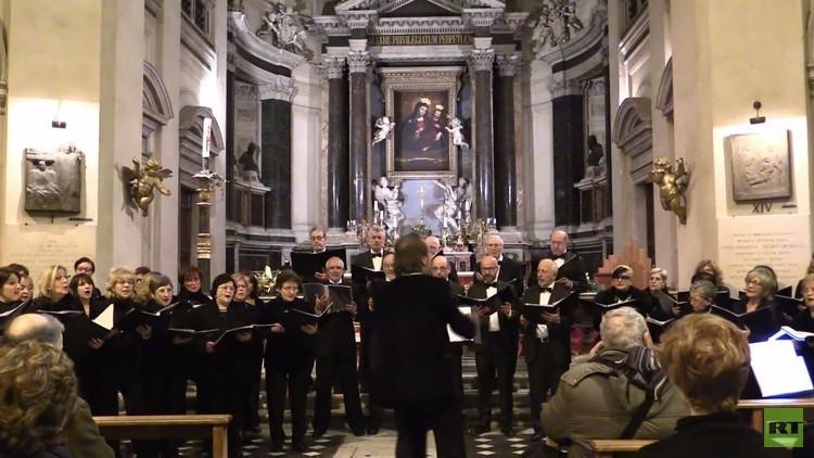 عرض موسيقي في روما لإحياء ذكرى فرقة ألكساندروف
