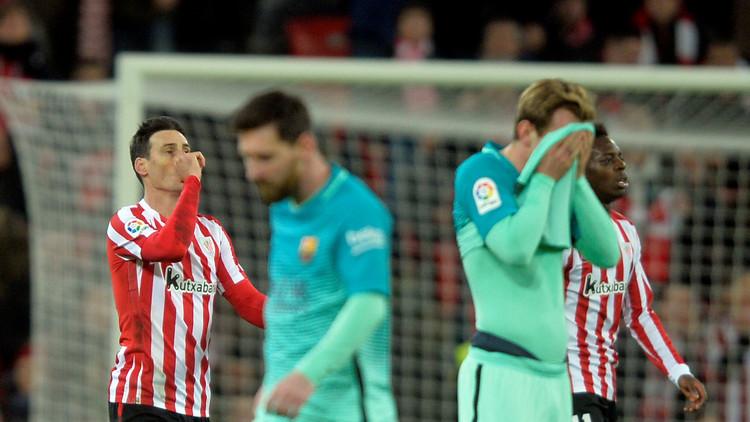 بتسعة لاعبين أتلتيك بيلباو يهزم برشلونة