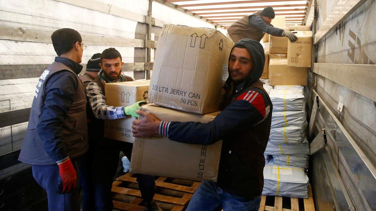 كازاخستان تسلم سوريا مساعدات إنسانية