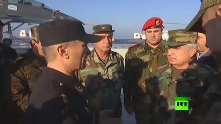 رئيس الأركان السورية العماد علي أيوب  يزور