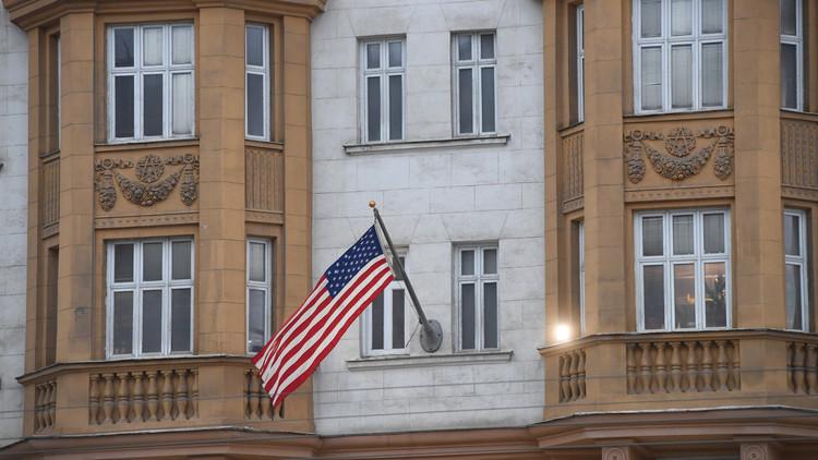 المياه تغمر السفارة الأمريكية في موسكو