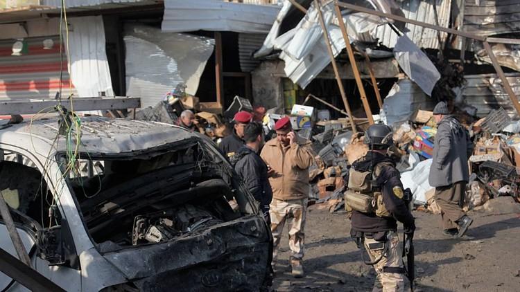 انفجار سيارة مفخخة في منطقة البياع جنوبي بغداد