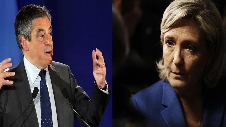 استطلاع: فيون سيفوز على لوبان في جولة الإعادة لانتخابات الرئاسة بفرنسا