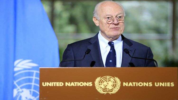 دي ميستورا: الأمم المتحدة ستدعم بنشاط مفاوضات أستانا وستسهم في نجاحها