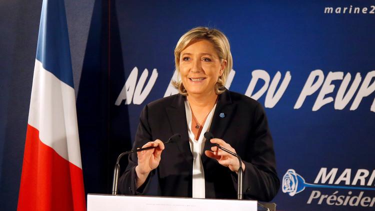 مارين لوبان توحد المشككين بالاتحاد الأوروبي