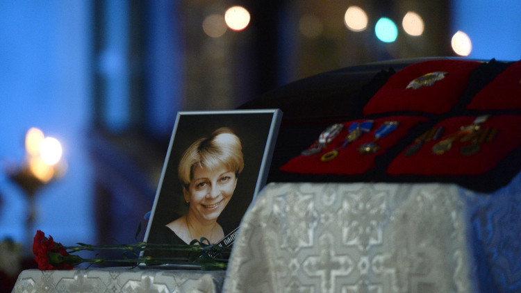 روسيا تشيع ضحايا تحطم طائرة