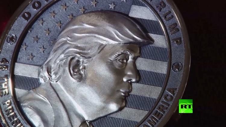 صورة لترامب نقشت على قطعة نقدية سكّت في روسيا