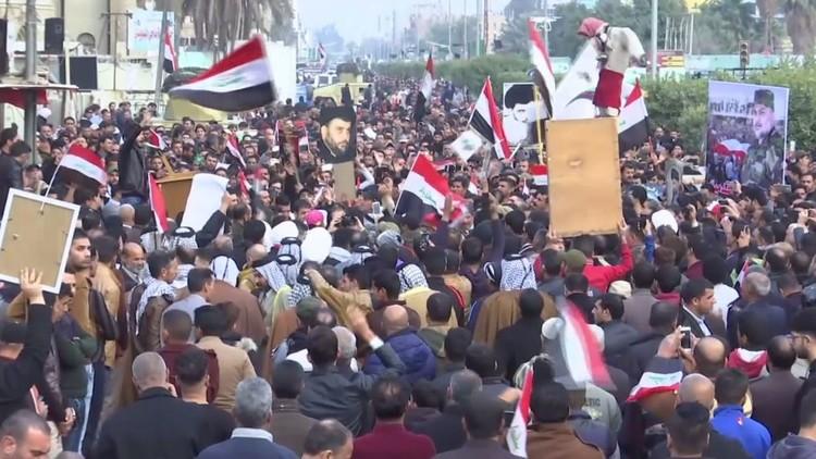 مظاهرات صاخبة في بغداد ضد البحرين