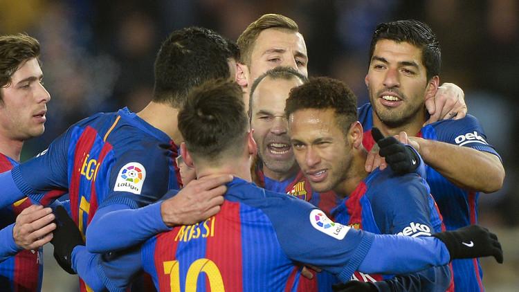 كأس الملك.. برشلونة يسقط  ريال سوسييداد في عقر داره