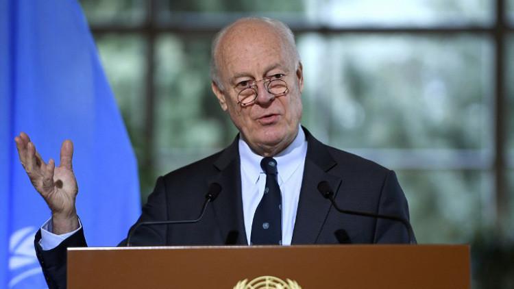 دي ميستورا يأمل بتشكيل وفد موحد لمعارضة سوريا قبل جنيف