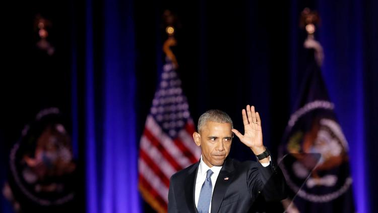 أوباما يرجم الإدارة الجديدة بحجر الوداع