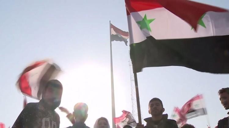 احتفال في حلب تأييدا لانتصارات الجيش السوري