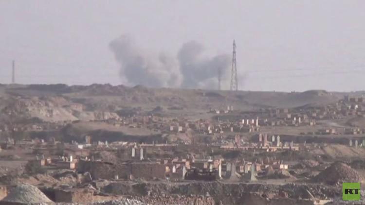 الجيش السوري يتقدم في دير الزور بإسناد جوي روسي