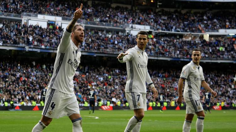 راموس يقود  ريال مدريد إلى فوز ثمين على ملقا