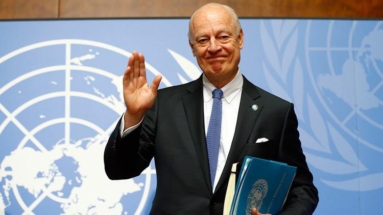 دي ميستورا يصل إلى أستانا للمشاركة في المفاوضات السورية