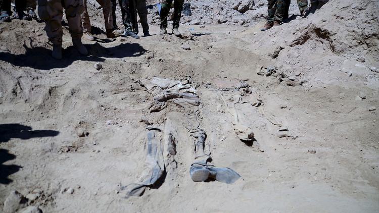 العثور على رفات 89 جثة وسط تكريت من ضحايا مجزرة سبايكر