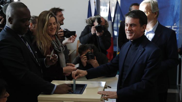 تقدم هامون وفالس في انتخابات اليسار الفرنسي