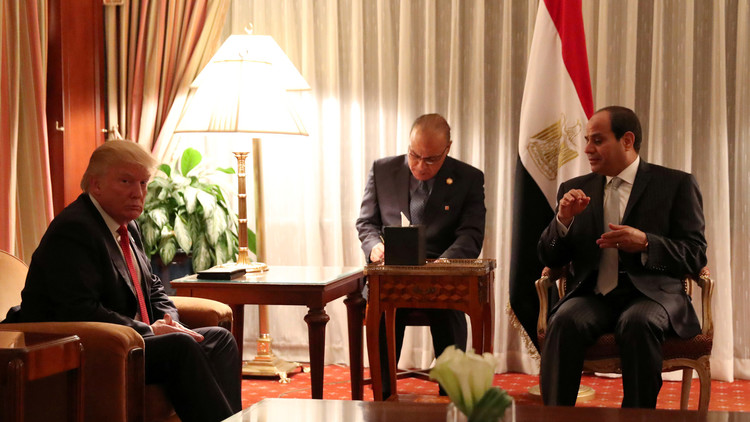 الرئاسة المصرية: ترامب والسيسي يناقشان الحرب على الإرهاب