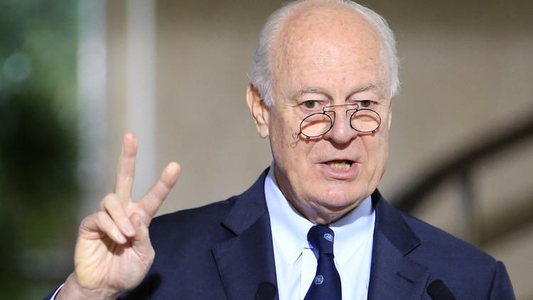 دي ميستورا: الطريق الوحيد لتأمين السلام في سوريا يمر عبر المفاوضات الشاملة