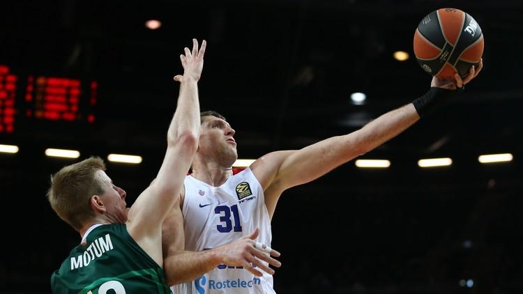 تسيسكا موسكو يسقط أمام غريمه التقليدي جالغريس الليتواني بكرة السلة